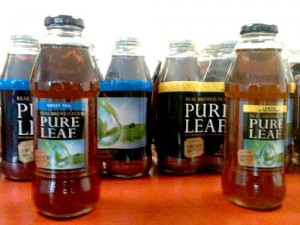 A sample of gkBRAND's packaging for Pure Leaf Tea.