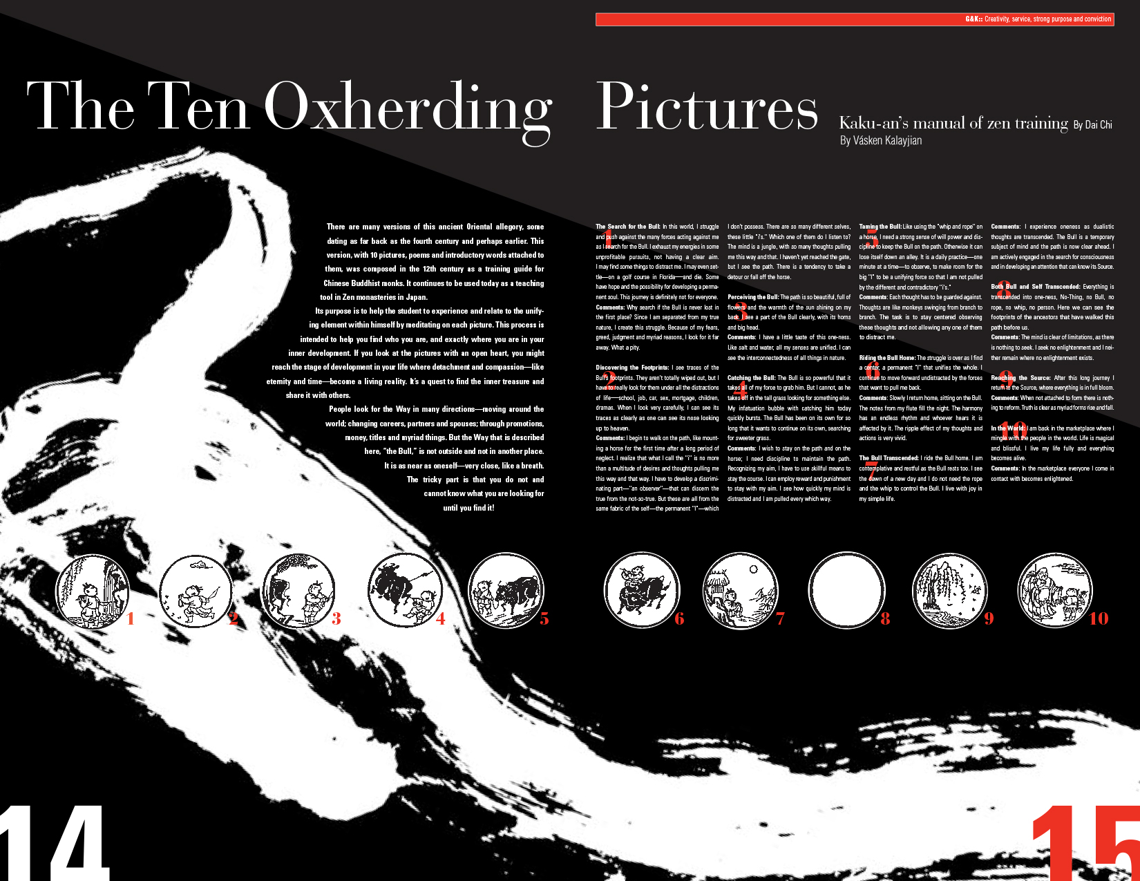 The Ten Oxherding Pictures Kaku-an's manual of zen training by Vasken Kalayjian
